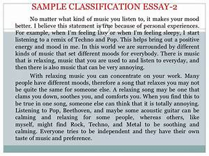 Writing High School Essays Music Genres Classification Essay Example Best English Essay Topics also Persuasive Essay Topics For High School Music Classification Essay Writing The Personal Statement Rock Music  Exemplification Essay Thesis