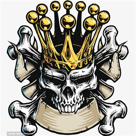 Crown Skull, Skull Head, Crown, Honorable Png And Psd File