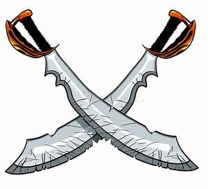 Crossed Cutlass Pirate Sword Stock Vector - Illustration ...