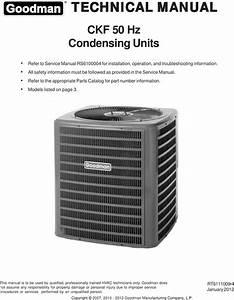 Goodman Mfg Co Lp Air Conditioner Ckf50hz Users Manual