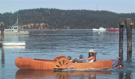 pedal powered amphibious recumbent tricycle small boats