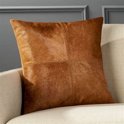 abele brown cowhide pillow cb