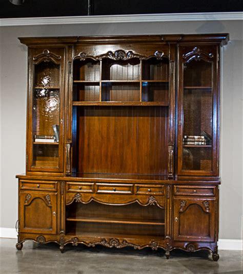 vintage entertainment center antique walnut distressed entertainment center z12 02 3193
