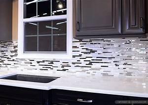 modern white marble glass metal kitchen backsplash tile 677