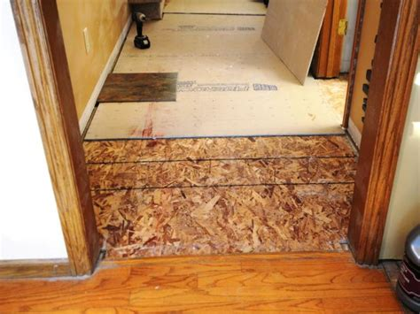 Preparing Wood Subfloor For Tile by Laying A New Tile Floor How Tos Diy