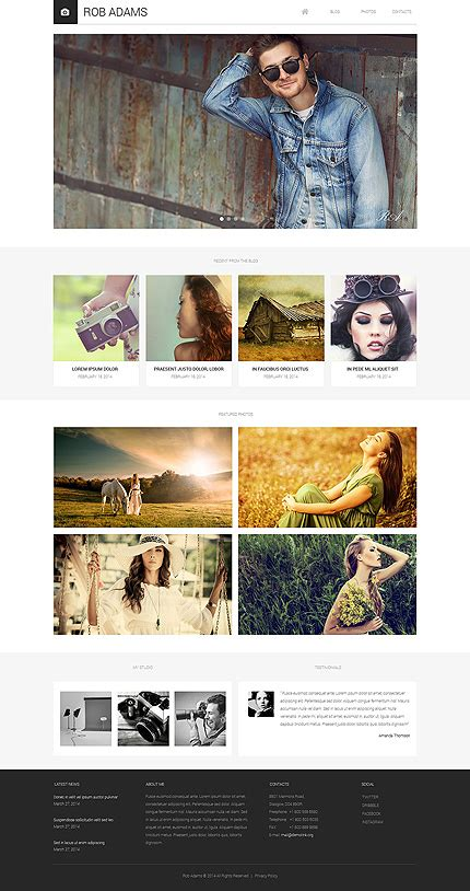 Drupal 7 Module With Template by Photo Artist Drupal Templates
