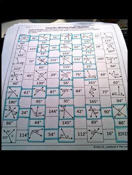 find  missing angle adjacent linear  maze