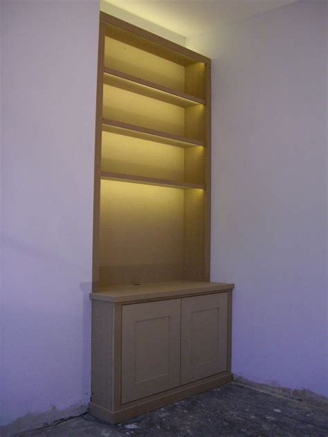 Bookcase Led Lighting by Fitted Alcove Bookcase With Lumilum Warm White Led