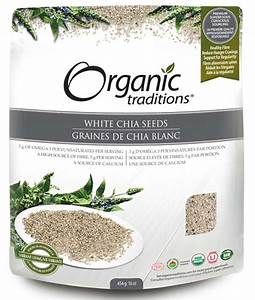 Organic Traditions Chia Seeds  White Whole 454g