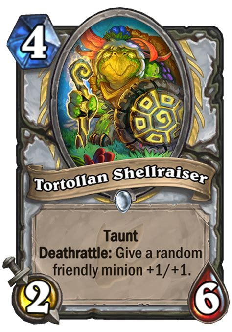 hearthstone top decks 2017 tortollan shellraiser hearthstone card