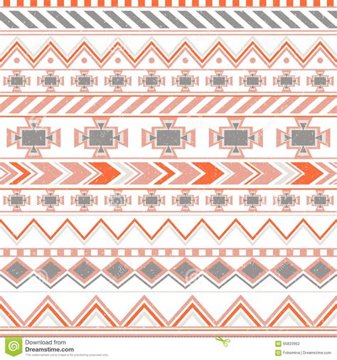 tribal colors aztec colorful ethnic seamless pattern tribal orange and