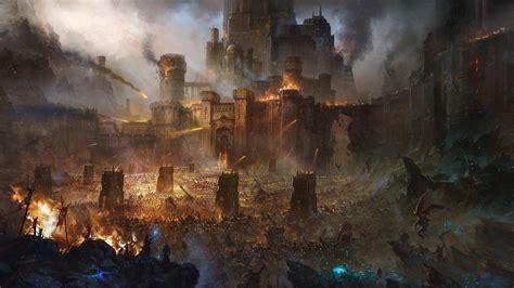 hd wallpaper castle siege army battle desktop