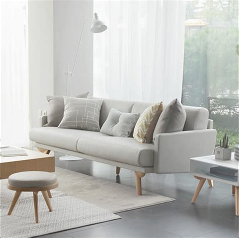 Sofa For Apartment Living by Solid Wood Leather Sofa Small Apartment Sofa Combination
