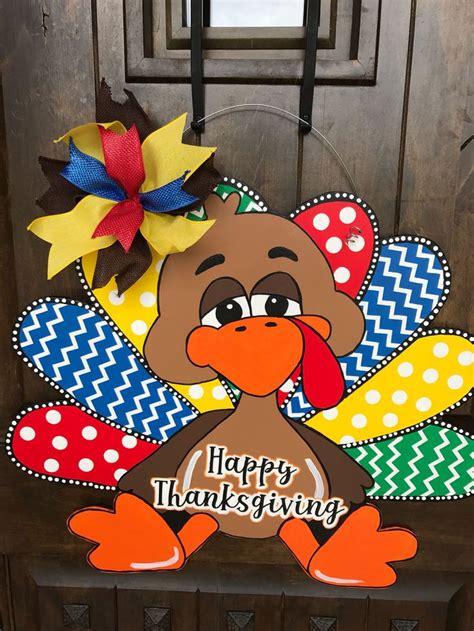 thanksgiving door hanger turkey door hanger fall