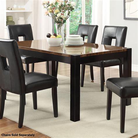Coaster 103611 Black Wood Dining Table Stealasofa