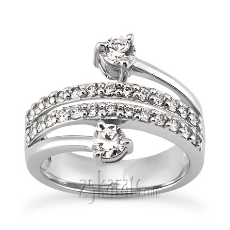 quot you me quot two prong fancy ring 1 15ct tw