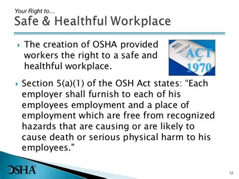 section 11 c of the osh act intro to osha pptx with new sds