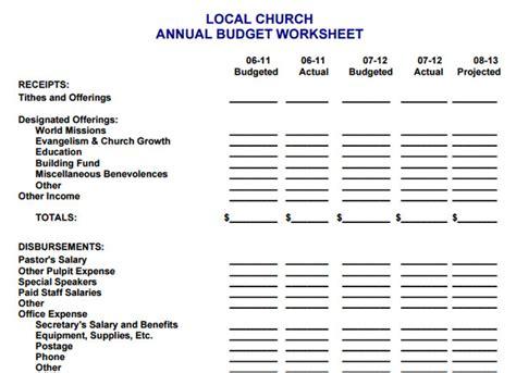 church budget template shatterlioninfo