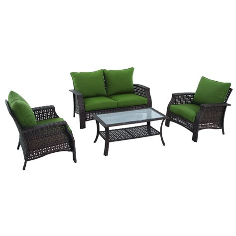 garden treasures terra springs 4 piece conversation set