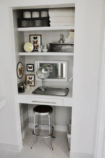 Closet Vanity Ideas by 14 Best Images About Bathroom Closets On