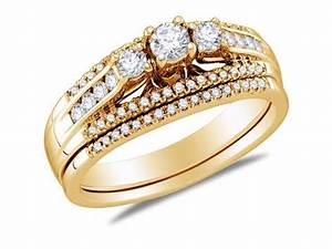 14k yellow gold diamond classic traditional engagement With traditional german wedding rings