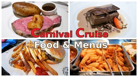 carnival cruise food overview menus 4k youtube