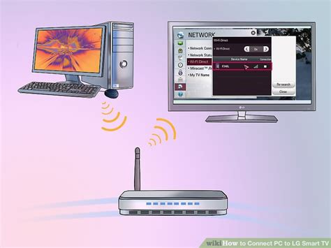 tv and computer how to connect pc to lg smart tv with pictures wikihow