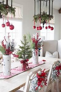 Deko Für Fenster Zum Hängen : tisch weihnachtlich dekorieren 41 deko ideen f r weihnachtstafel deko feiern ~ One.caynefoto.club Haus und Dekorationen