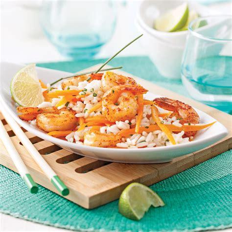 cuisine lait de coco salade repas aux crevettes riz et lait de coco recettes
