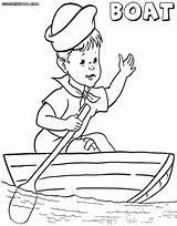 Boat Coloring Pages Rowing Drawing Kid Getdrawings sketch template