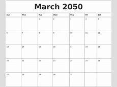 April 2050 Calendar Templates Free
