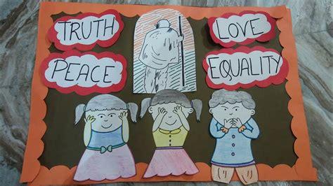 Poster Making For Gandhi Jayanti