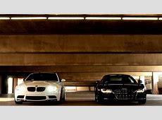 Cars parking headlights Audi R8 V10 BMW M3 E92 wallpaper