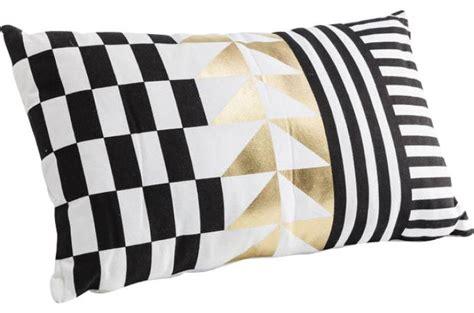 livre de cuisine plancha coussin kare design imprimé forme géométrique doré 50x30cm