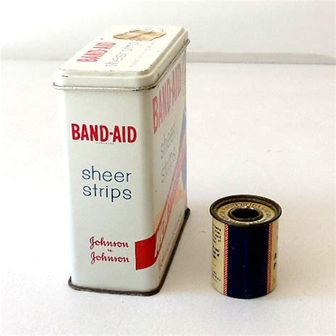 2 vintage aid tins band aid jj cross from
