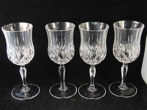 Genuine Lead Crystal Wine Glasses 4 Glasses