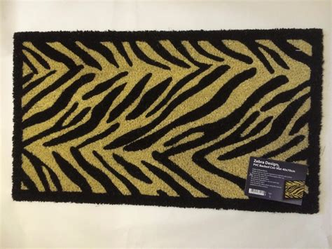 Large Zebra Leopard Paw Animal Print Entrance Inout Door