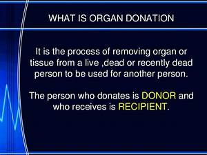 organ donor persuasive speech outline