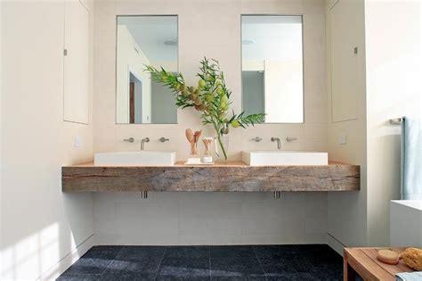 Floating Vanity Sink by Reclaimed Wood Floating Sink Vanity With His And Hers