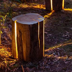 Lampe Mit Holzstamm : cracked log lamp designerlampe aus holzstamm ~ Indierocktalk.com Haus und Dekorationen