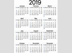 Free Calendar 2019 Free Printable 2018 Calendar Template