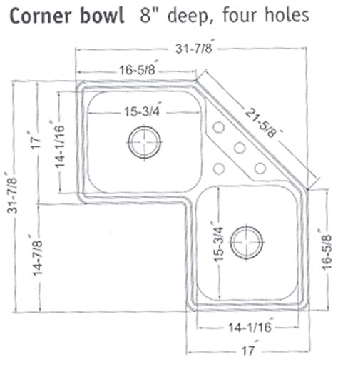 corner kitchen sink cabinet dimensions corner kitchen sinks 8358