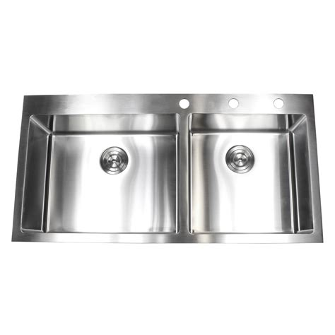 43 inch kitchen sink 43 inch top mount drop in stainless steel bowl 3914