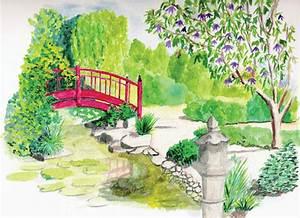 Jardin Dessin Couleur : dessin de jardin 8 ~ Melissatoandfro.com Idées de Décoration