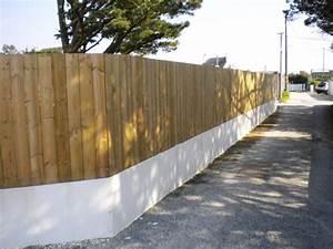 Cloture Sur Muret : 29 best palissade bois tootan images on pinterest ~ Carolinahurricanesstore.com Idées de Décoration