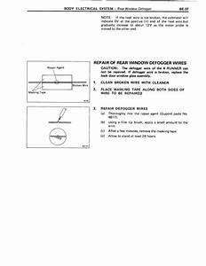 88 4runner Rear Widow Defroster Wiring Help