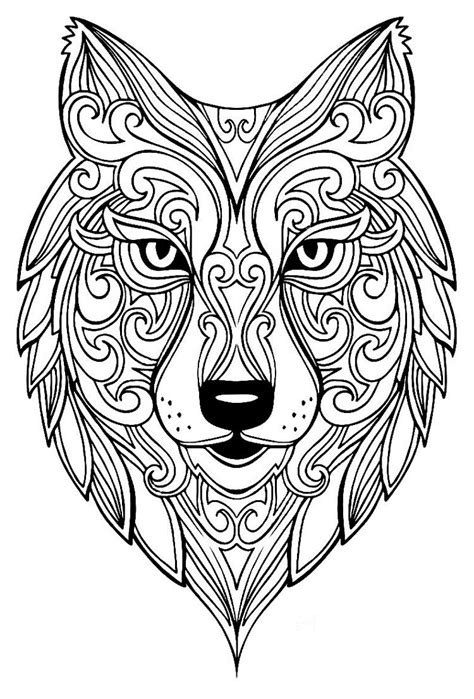 Wolf Mandala Coloring Pages | Animal coloring pages
