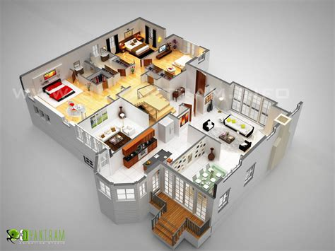 luxury interior design home 3d floor plan design interactive 3d floor plan yantram