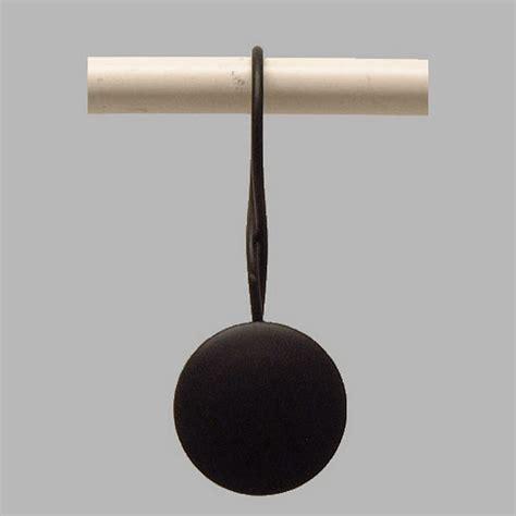 gordijnroede met ringen gordijnroede ring met ronde clip zwart 30 mm lengte 10 cm