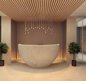 wood-reception-design | Interior Design Ideas.
